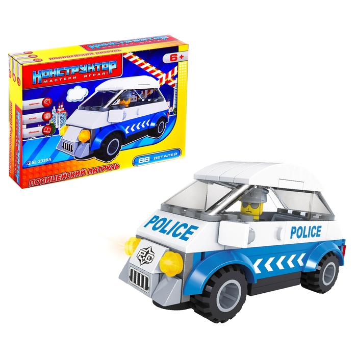 Конструктор «Полицейский патруль», 88 деталей