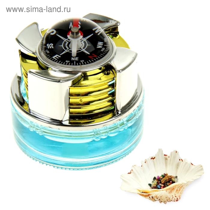 "Ароматизатор в авто ""Luazon Lux Travel"", с компасом, аромат тайна океана"