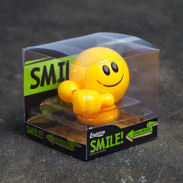 "Ароматизатор - маятник для авто ""Luazon Smile"", яблоко"