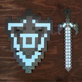 """Набор деревянных сувениров """"Алмазное оружие"""" щит, меч"""
