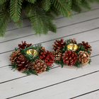 """Candle holder for two candles """"Pinecones bows"""""""