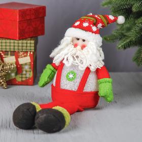 """Мягкая световая игрушка """"Дед Мороз в комбинезоне"""" сидит 40 см"""