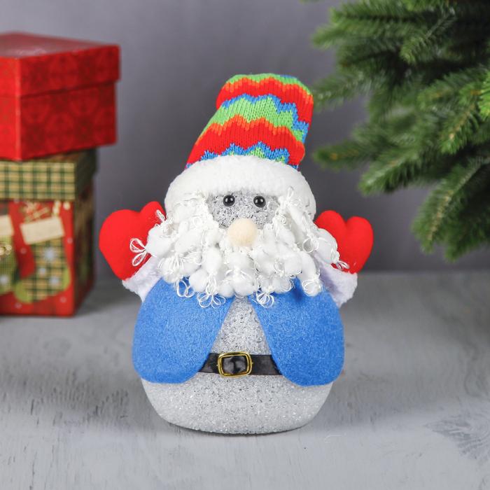 """Световая игрушка """"Дед Мороз в цветном колпаке"""""""