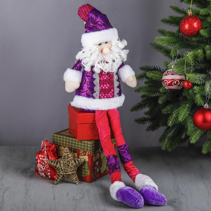 """Мягкая игрушка """"Дед Мороз в цветном наряде"""""""