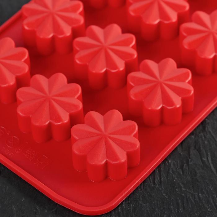 """Форма для льда и шоколада """"Цветочки"""", 15 ячеек, цвет МИКС"""