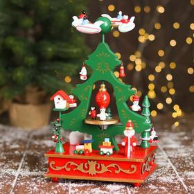 Новогодний сувенир «Ёлка и карусель» 17 × 12 × 28 см
