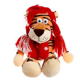 Мягкая игрушка «Тигр в шапочке», 16 см