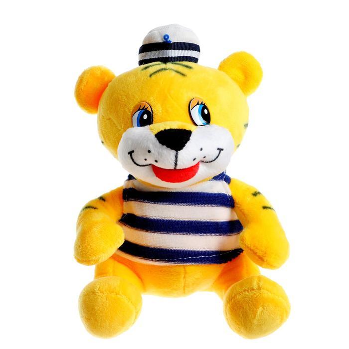 Мягкая игрушка «Тигр», моряк, 15 см - фото 106976473