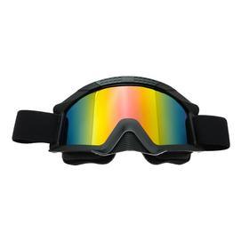 Очки-маска для езды на мототехнике, стекло тонированое-хамелеон, цвет черный, ОМ-2