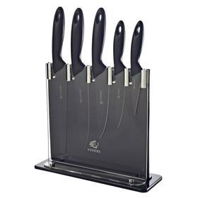Набор из 5 ножей и подставки silhouette, чёрный