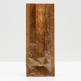 """Пакет бумажный фасовочный """"Мандала"""", с окном, 12 х 8 х 28 см"""