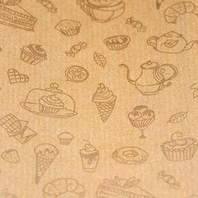 """Пакет бумажный фасовочный """"Кондитерские изделия"""", с окном, 12 х 8 х 28 см"""