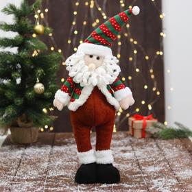 """Мягкая игрушка """"Дед Мороз - пузанчик"""" 10х52 см, красно-зелёный"""