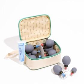 Магнитные банки акупункционного действия, для вакуумного массажа, набор 12 шт.