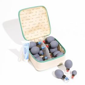 Магнитные банки акупункционного действия, для вакуумного массажа, набор 18 шт.