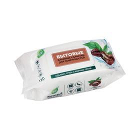 Бытовые влажные салфетки для поверхностей с кофе СВЕЖАЯ НОТА, 120 шт.