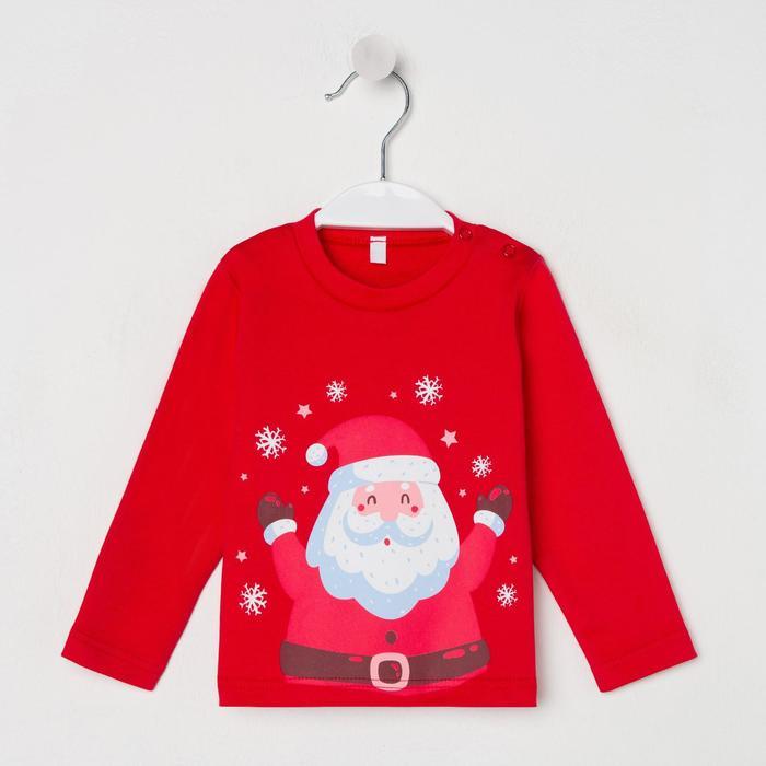 Лонгслив «Дед Мороз», цвет красный, рост 74 см - фото 106983064