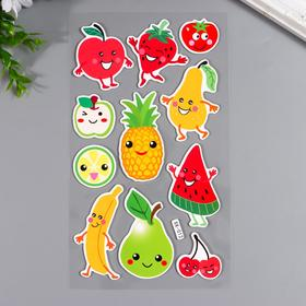 """Наклейка EVA """"Весёлые фрукты"""" мягкая 30х14 см"""