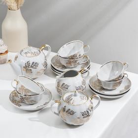 Сервиз чайный «Золотая ветка», 15 предметов