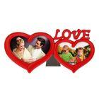Фоторамка на 2 фото 9х13 см, 10х15 см Love красная