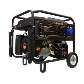 Бензиновый генератор FoxWeld Expert G6500EW, 4Т, блок AVR, 3х220 В, LED дисплей, электропуск   73057
