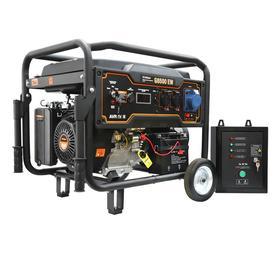 Бензиновый генератор FoxWeld Expert G8500 EW+блок автоматики, 7.5 кВт, 3х220 В/16 А, 12 В