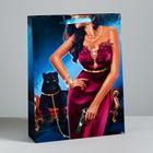 Пакет ламинированный вертикальный «Пантера», L 40 × 31 × 9 см