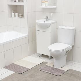 Набор ковриков для ванной и туалета SAVANNA «Тепло», 2 шт: 50×80 см, 40×50 см
