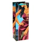 Пакет ламинат вертикальный под бутылку (стразы) «Пантера», 13 х 36 см