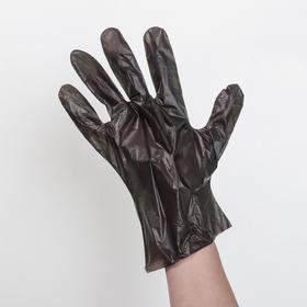 Перчатки одноразовые полиэтиленовые, размер L, 0,6 г, 100 шт/уп, цвет чёрный