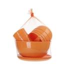 Набор для пикника и барбекю на 4 персоны мандарин