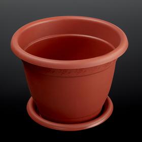 """Горшок для цветов с поддоном 2,1 л, d=19 см """"Борнео"""", цвет терракотовый"""