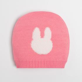 Шапка детская, цвет розовый, размер 36-40