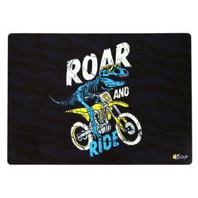 Накладка на стол пластиковая А4, 339*244 (+/- 5 мм), 500 мкм, для мальчика Dino ride