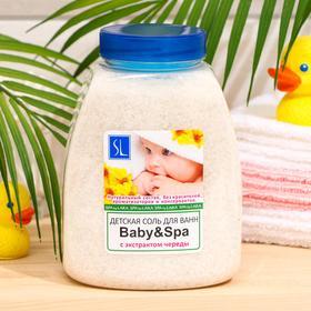 Соль для ванн «Буль-буль» Baby & Spa детская неароматизированная, 1000 г