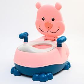 """Горшок детский """"Тигренок"""", цвет розовый"""