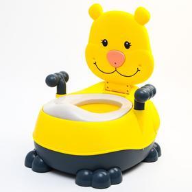 """Горшок детский """"Тигренок"""", цвет желтый"""