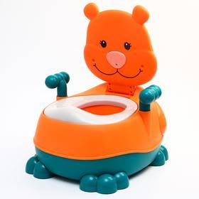 """Горшок детский """"Тигренок"""", цвет оранжевый"""