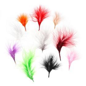 Набор перьев для декора, набор 10 шт., размер 1 шт: 7×7 см, цвета МИКС