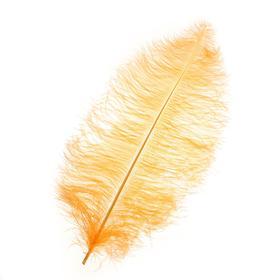Перо для декора, длина от 45 до 60 см, цвет персиковый