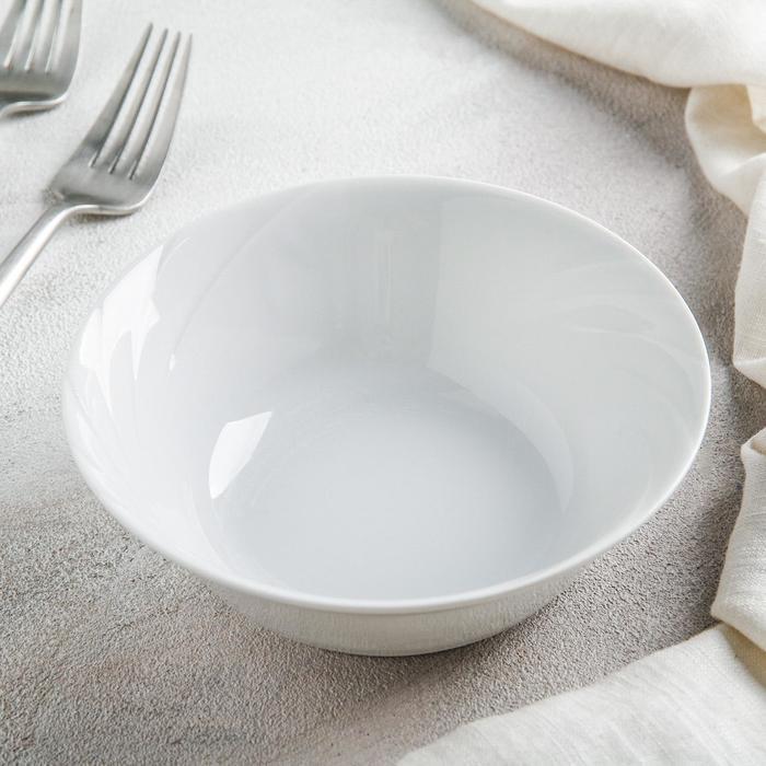 Салатник «Голубка», 360 мл, 15 см, цвет белый