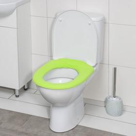 Чехол на сиденье для унитаза на резинке, 28×28 см, цвет МИКС