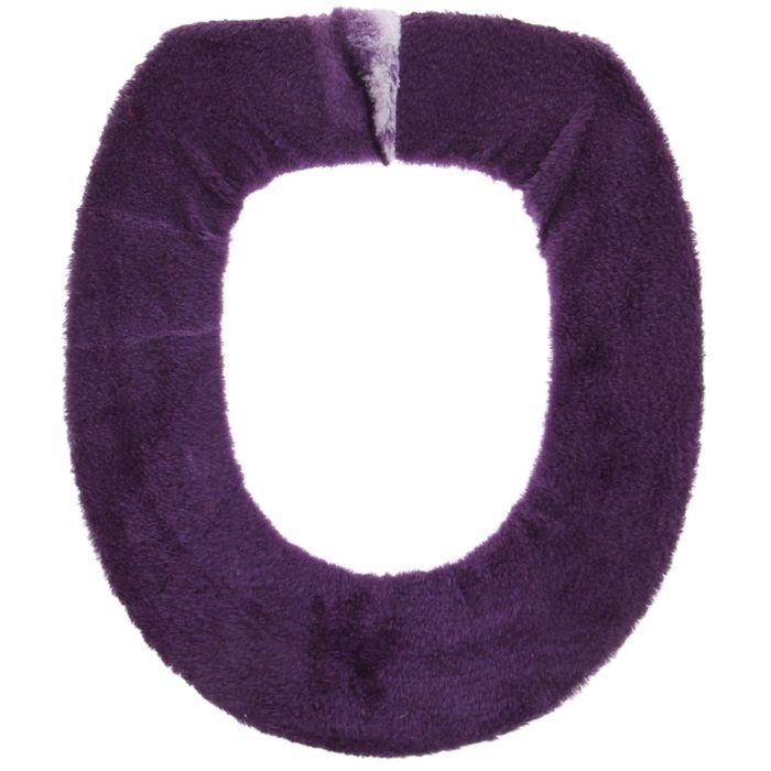 Чехол на сиденье для унитаза, на резинке, цвета МИКС