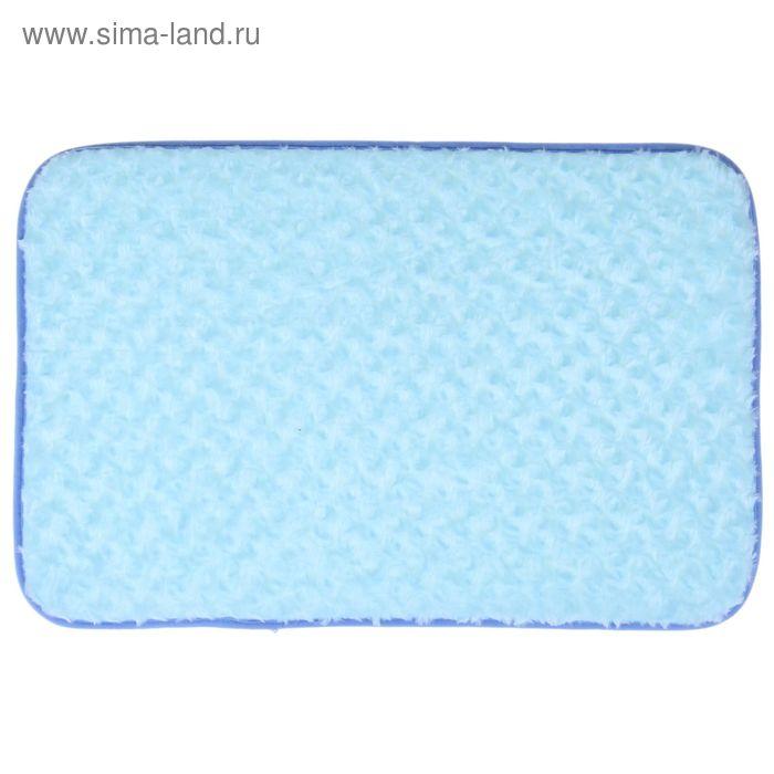 "Коврик для ванной ""Завитушки"", цвет голубой"