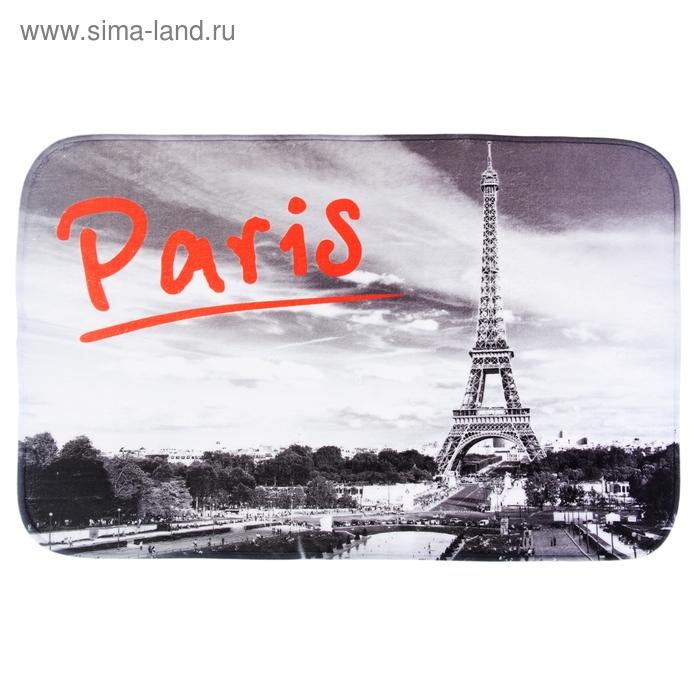 """Коврик для ванной 50х80 см """"Париж"""""""