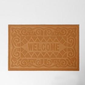 Коврик придверный без окантовки «Welcome. Вензеля», 38×59 см, цвет МИКС - фото 4656925