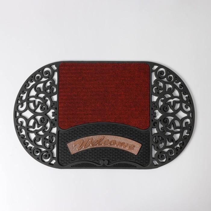 """Door Mat """"Welcome"""" oval, MIX color"""