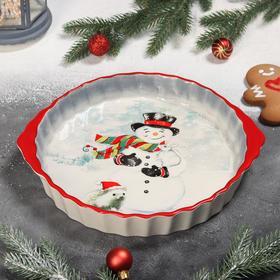 {{photo.Alt    photo.Description    'Блюдо для запекания Доляна «Снеговик со зверятами», 28,8×25×4,3 см'}}