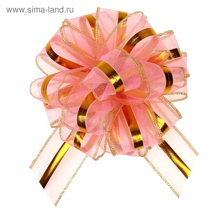 """Бант-бабочка №6 """"Эксклюзив"""", цвет розовый"""