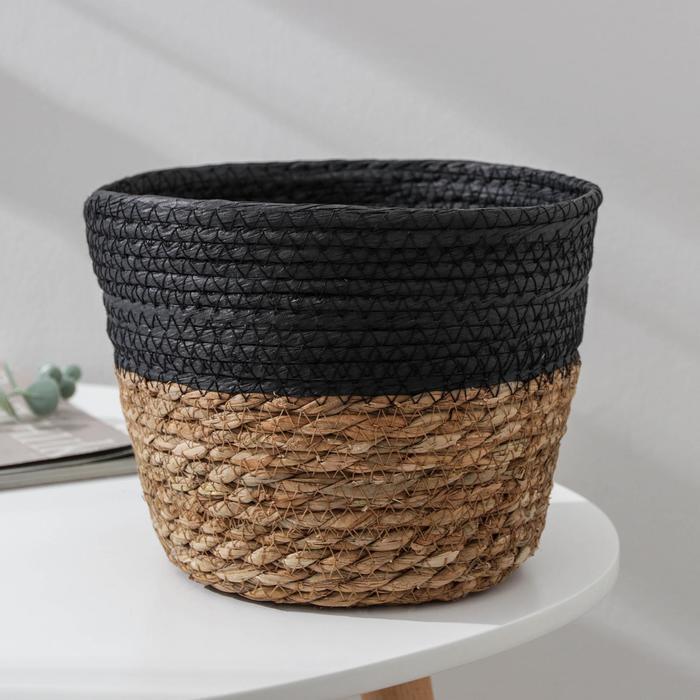 Корзина для хранения «Рика», плетёная, 21,5×21,5×16 см